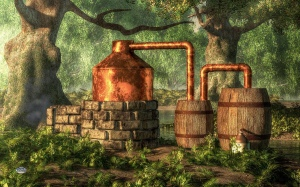 Moonshine Still 3 Digital Art by Daniel Eskridge